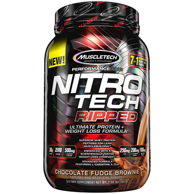 MT PERFORMANCE SERIES NITROTECH RIPPED 2.00LBS CHOCOLATE FUDGE B