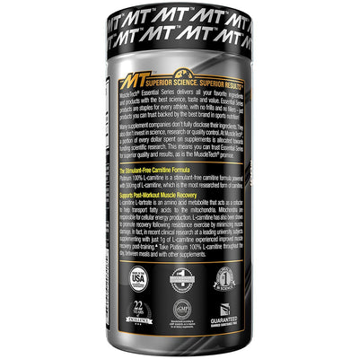 MT ESSENTIAL SERIES PLATINUM L- CARNITINE 60 CAPS