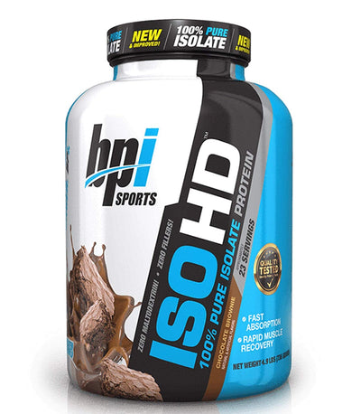 BPI SPORTS ISO HD CHOCOLATE BROWNIE 4.9LBS