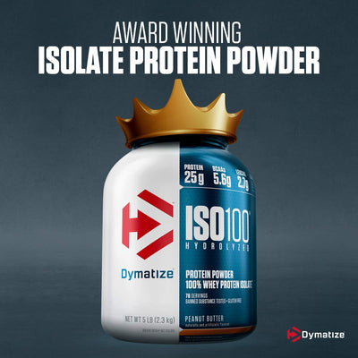 DYMATIZE ISO 100 HYDROLYZED | 5LBS GOURMET CHOCOLATE