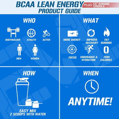 EVL BCAA LEAN ENERGY PEACH LEMONADE 30 SERVINGS