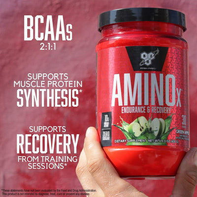 BSN Amino X - 30 Servings Green Apple)