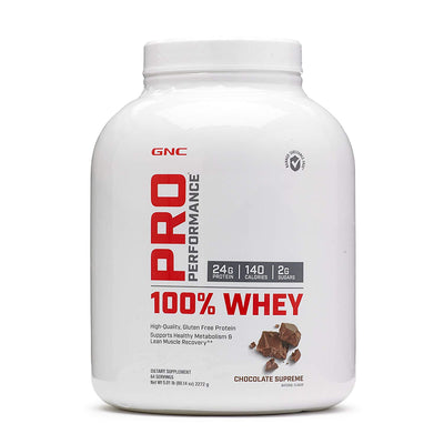 GNC PRO PERFOMENCE 100% WHEY 5.01 LB CHOCOLATE SUPREME