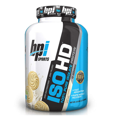 BPI SPORTS ISO HD 4.8 LBS VANILLA COOKIE