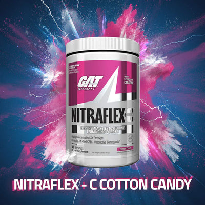 GAT SPORT NITRAFLEX+C 30 SERVING COTTON CANDY