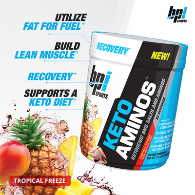 BPI SPORTS KETO AMINO 30 SERVINGS TROPICAL FREEZE