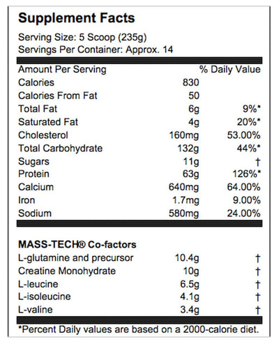 MUSCLETECH MASSTECH PRFORMANCE SERIES MILK CHOCOLATE 7 LBS