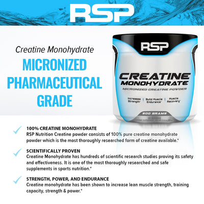 RSP CREATINE MONOHYDRATE 300 GMS