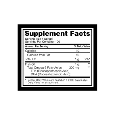 Optimum Nutrition ON Fish Oil 1000 Mg - 100 Softgels
