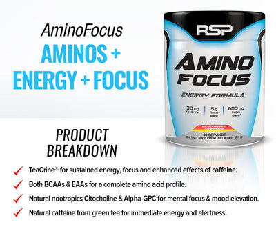 RSP AMINO FOCUS 30SERVINGS 225G