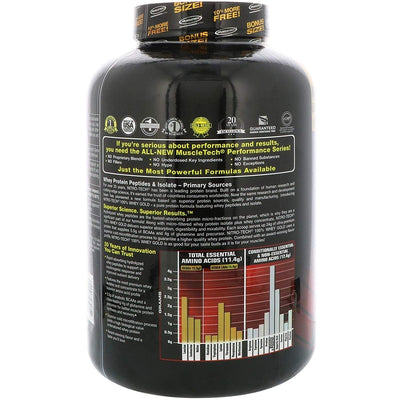 MUSCLETECH NITROTECH WHEY GOLD  5.53 LBS DOUBLE RICH CHOCOLATE