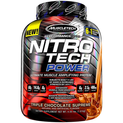 MUSCLETECH NITROTECH POWER 3.97LB TRIPPLE CHOCOLATE SUPREME
