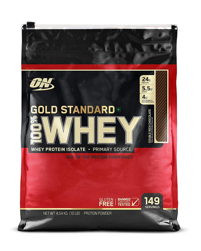 Optimum Nutrition - 100% Whey Gold Standard - 10 Lbs (Double Rich Chocolate)