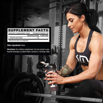 KAGED MUSCLE GLUTAMINE UNFLAVORED 1.1LBS (500GM) - Muscle & Strength India - India's Leading Genuine Supplement Retailer