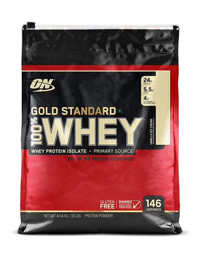 ON 100% Whey Gold Standard - 10 Lbs (Vanilla Ice Cream)