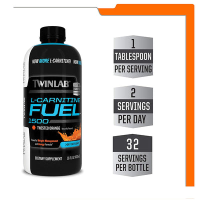Twinlab L- Carnitine Fuel Wisted Orange
