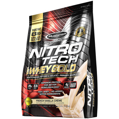 MT PERFORMANCE SERIES NITROTECH WHEY GOLD 8 LBS FRENCH VANILLA C