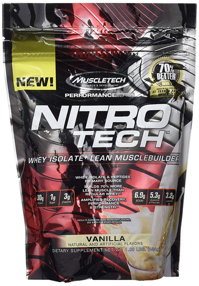MT PERFORMANCE SERIES NITROTECH 1 LBS MILK VANILLA