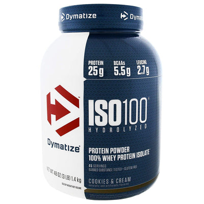 DYMATIZE ISO 100 HYDROLYZED 3 LB COOKIES & CREAM