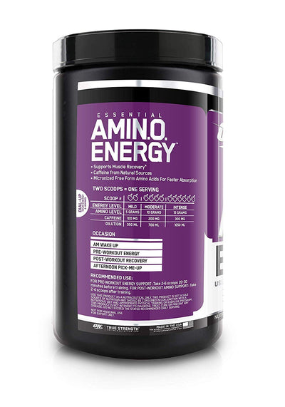 ON Essentials Amino Energy 30 Servings Concord Grape