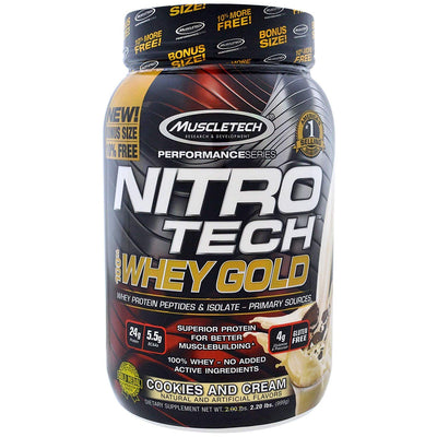 MT PERFORMANCE SERIES NITROTECHWHEY GOLD2.20 LBS COOKIES AND CRE