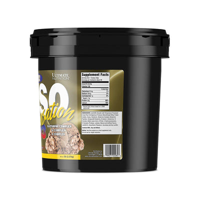 ULTIMATE NUTRITION ISO SENSATION  5 LBS CHOCOLATE FUDGE