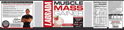 LABRADA MUSCLE MASS GAINER STRAWBERRY 6lbs