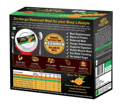 Rite Bite Max Protein Green Tea Orange 70g