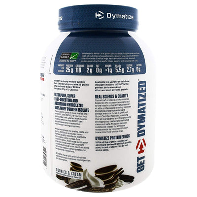 DYMATIZE ISO 100 HYDROLYZED 3 LB COOKIES & CREAM - Muscle & Strength India - India's Leading Genuine Supplement Retailer