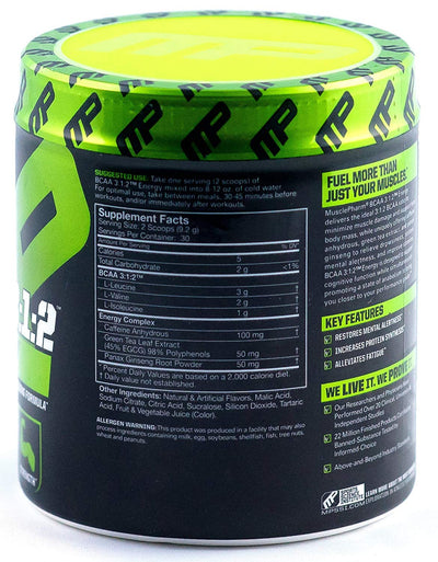 MUSCLEPHARM BCAA 3:1:2 ENERGY WATERMELON 276 GM - Muscle & Strength India - India's Leading Genuine Supplement Retailer