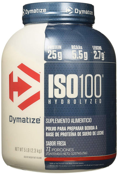 DYMATIZE ISO 100 HYDROLYZED 5LBS STRAWBERRY