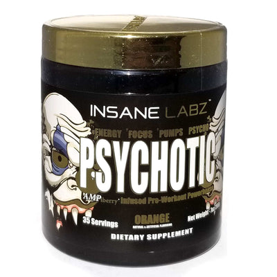 INSANE LABZ PSYCHOTIC GOLD 35 SERVINGS ORANGE