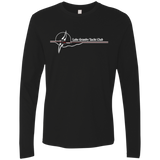 LGYC white logo Men's Premium Long Sleeve T
