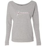 LGYC white logo Women's French Terry Scoop Sweatshirt