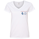 40 graphic 88VL Anvil Ladies' V-Neck T-Shirt