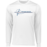 Custom LGYC blue logo Long Sleeve Wicking T-Shirt with Boat Name