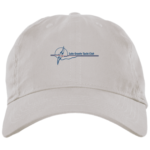 LGYC blue logo BX001 Brushed Twill Unstructured Dad Cap