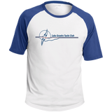 LGYC blue logo Mens Short Sleeve Colorblock Raglan Jersey