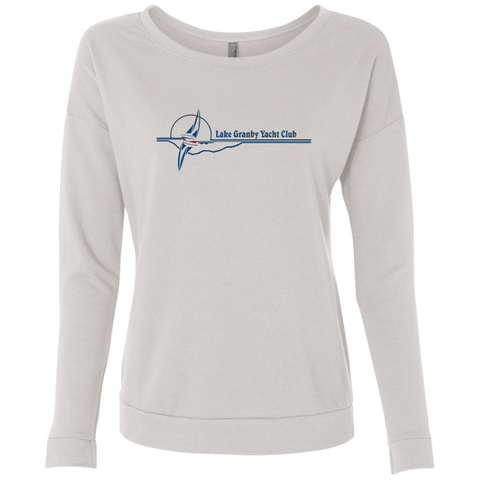 LGYC blue logo Women's French Terry Scoop Sweatshirt