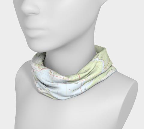 Lake Granby Map Neck Gaiter