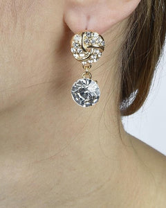Pavé Crystal Drop Earrings