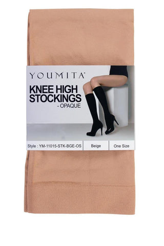 Ladies knee high opaque non-run stockings for everyday use