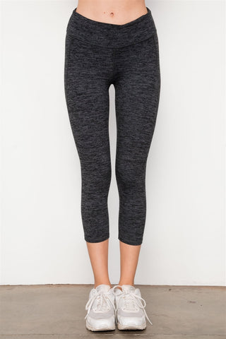 Grey Athletic Capri Leggings