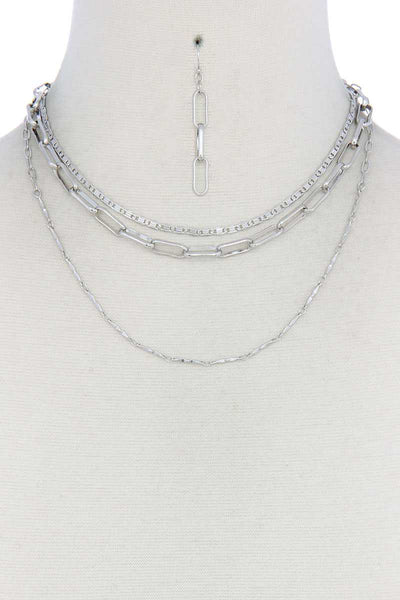 Metal Layered Necklace
