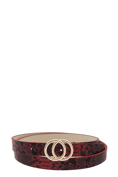 Stylish Python Print Belt