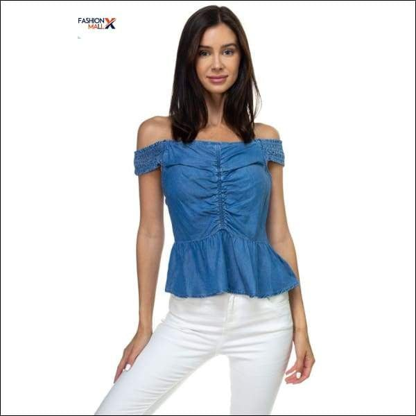 Off Shoulder Tencel Top