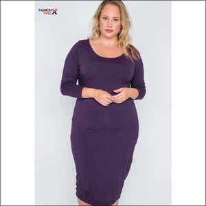 Plus Size Basic Bodycon Midi Dress