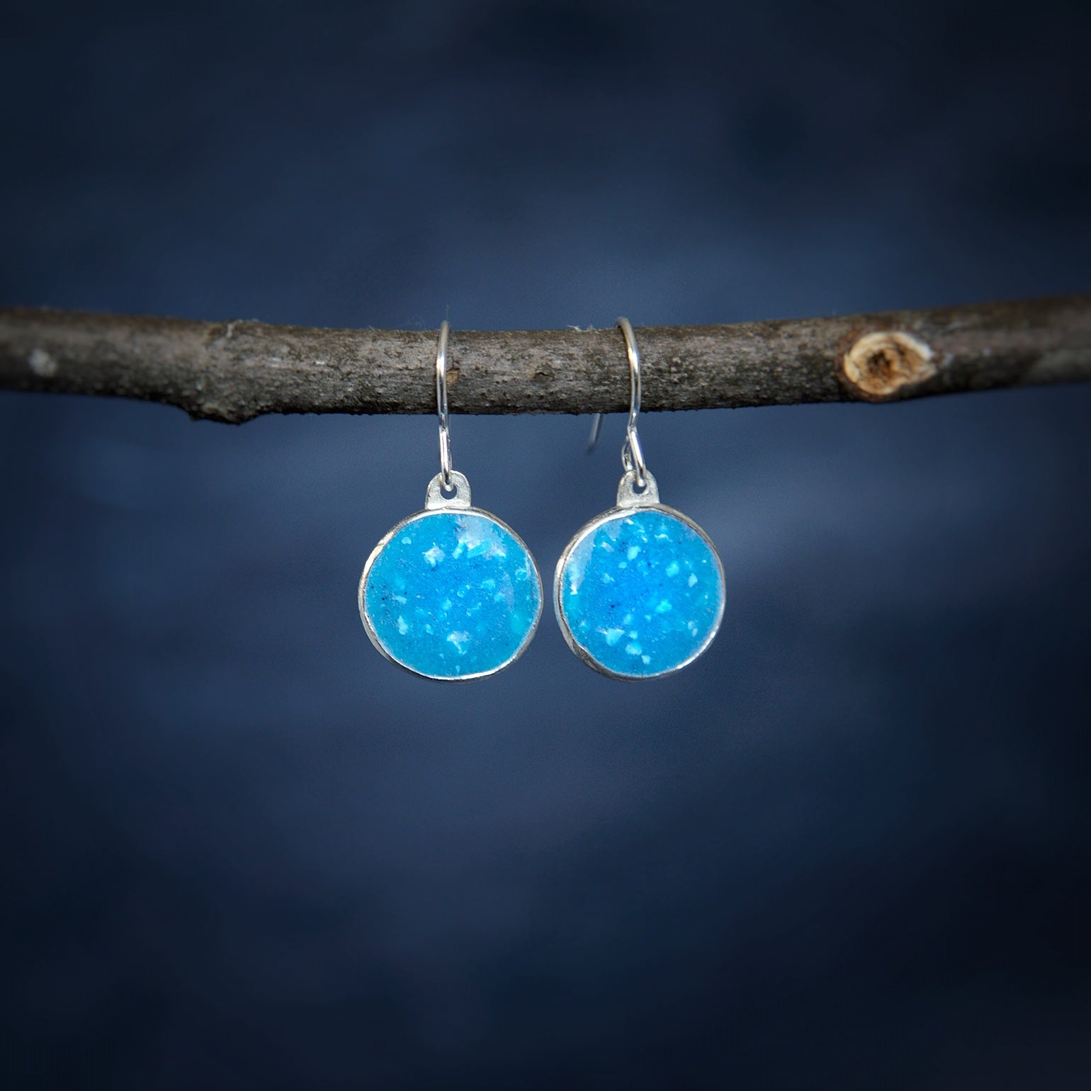 Dawn Sky Circle Earrings
