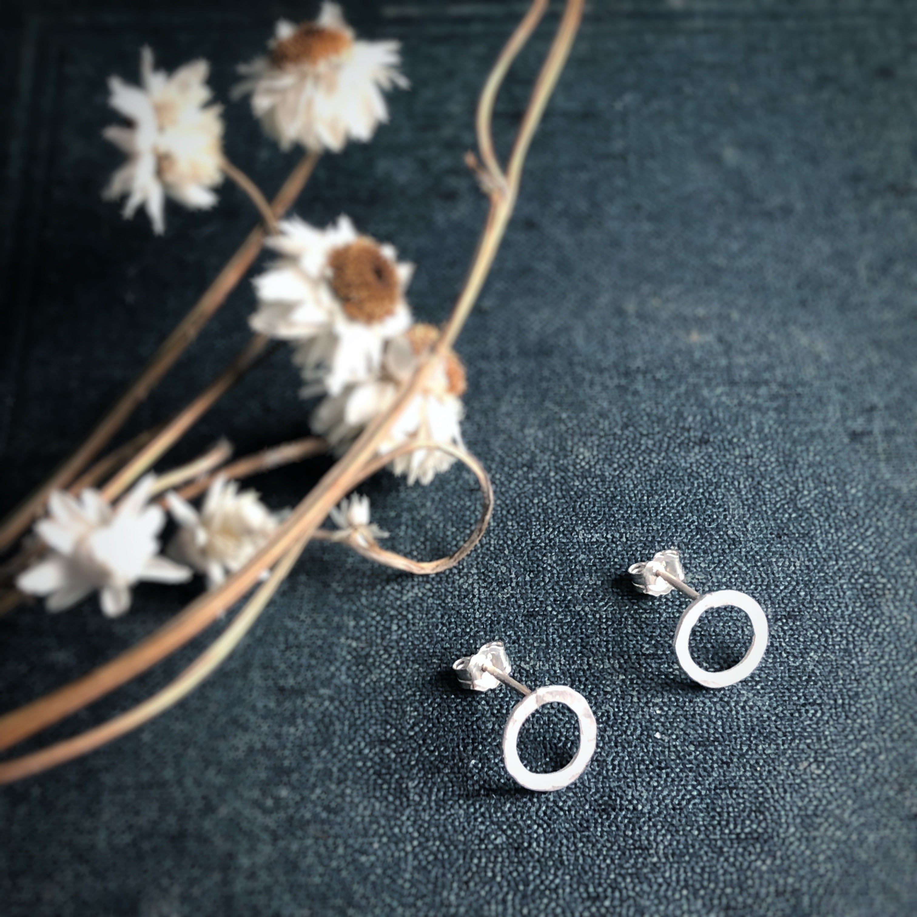 Full Moon Silver Studs