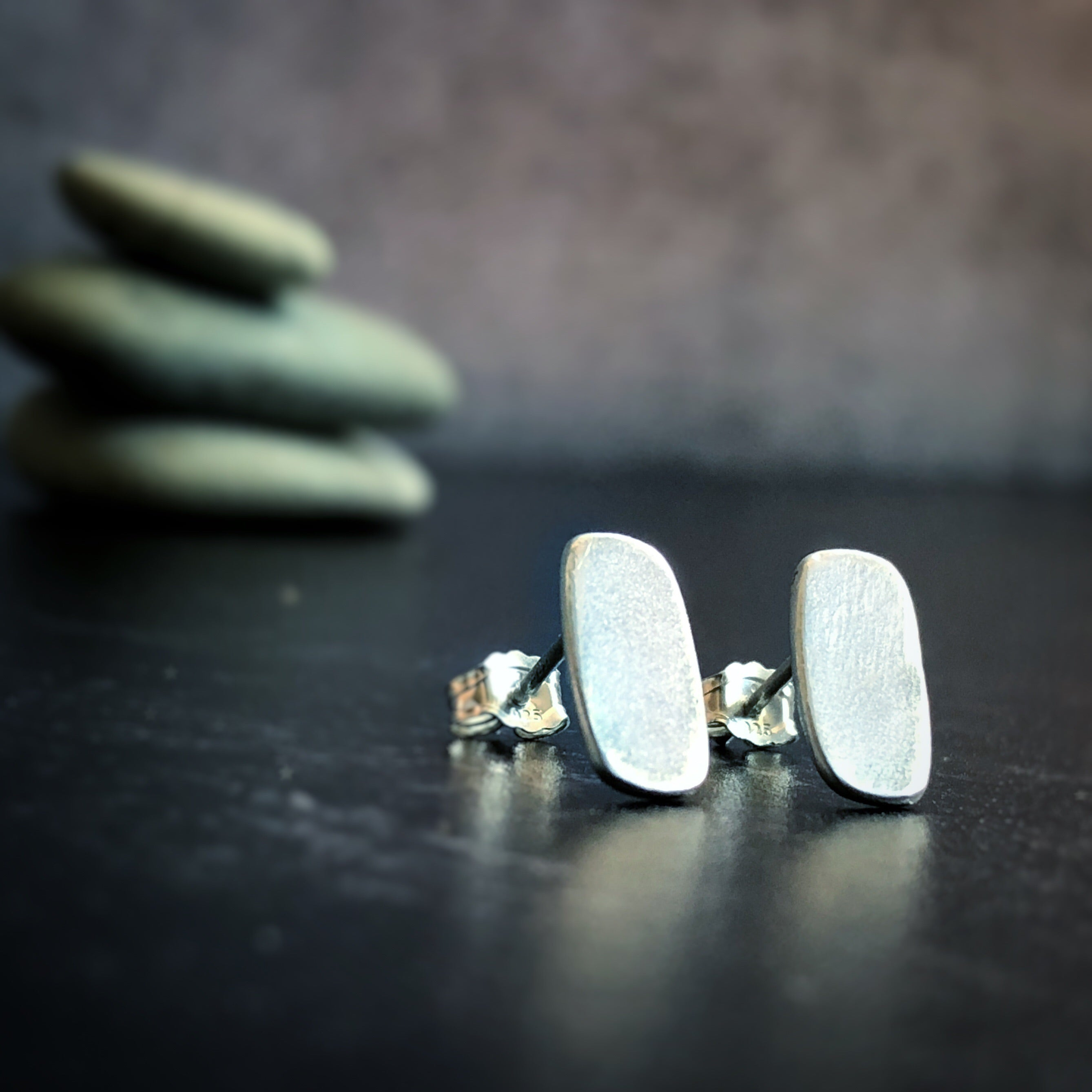 Simple Silver Studs